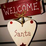 Wooden Heart Santa Decoration £4.50