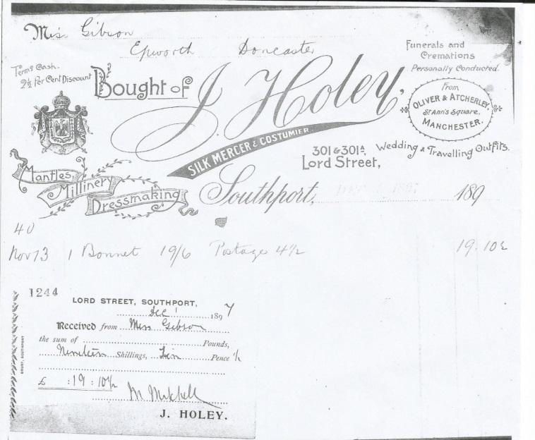 Volunteer Blog – Victorian & Edwardian Receipts