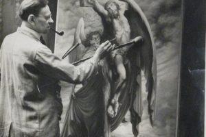 Sydney Wright in his studio