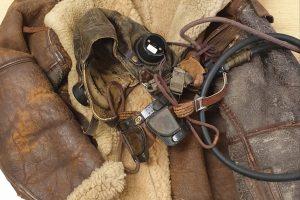 Flight Lieutenant Henry Falls-Hand flight jacket and mask