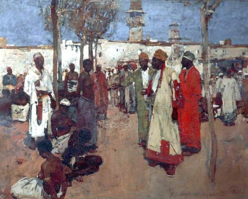Brangwyn, Frank, 1867-1956; The Slave Market